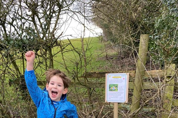 An eco-trail with the theme '21 Ways to Save the Planet' proved very popular in a Derbyshire village this February during lockdown